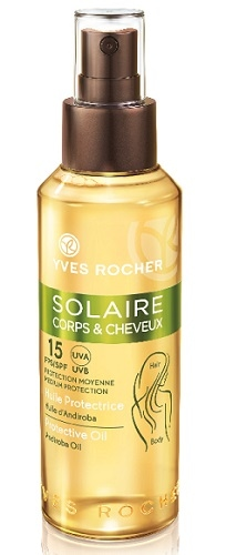 Solaire Corps et Cheveux 15 FPS UVA UVB - Protection Moyenne - Huile Protectrice