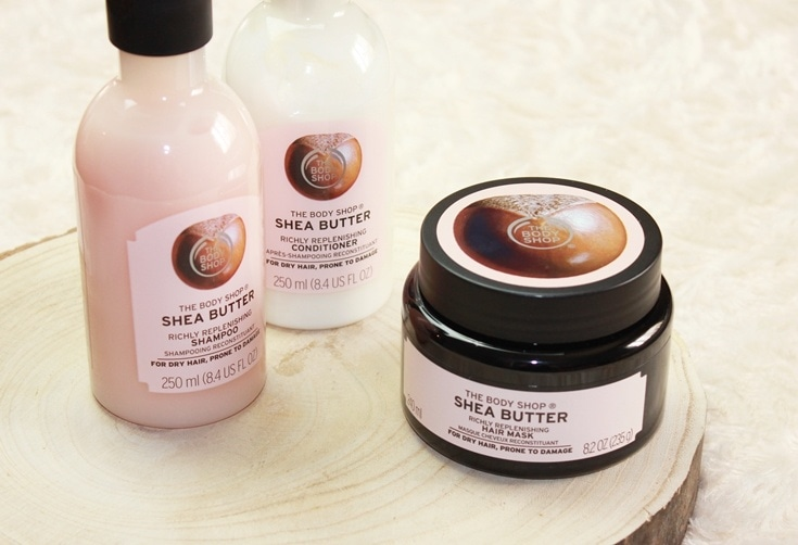 The Body Shop Shea Butter haircare