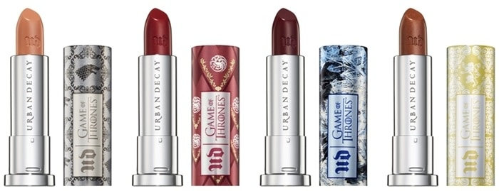 Urban Decay Game of Thrones lipsticks