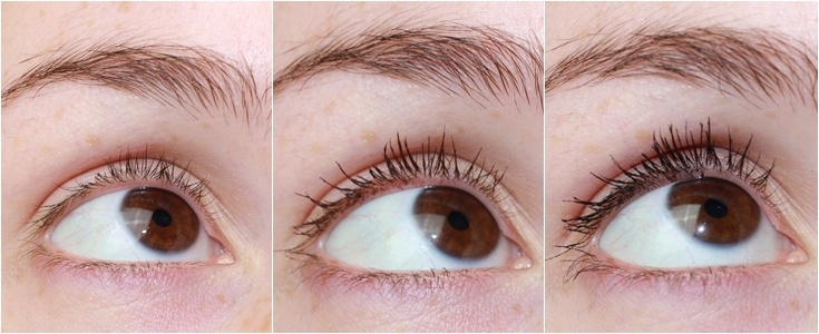 Maybelline Total Temptation mascara's swatches