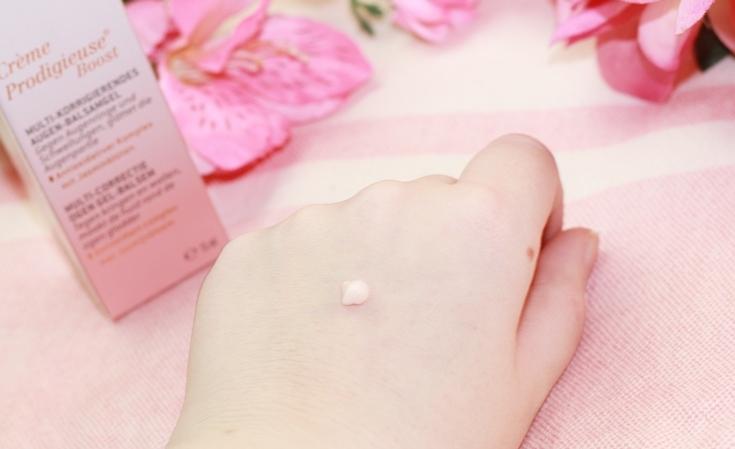 NUXE Crème Prodigieuse Boost oogbalsem gel substantie